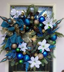 Blue Christmas Wreaths Wikii This Wreath Will Be A Perfect Addition To Your  Hanukkah Or Winter Decor Size Is Large Inch Diameter And Depth