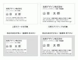 名刺デザインのコツと考え方レイアウト 京都の印刷会社森田美術印刷
