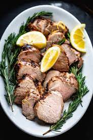 grilled lemon garlic pork tenderloin