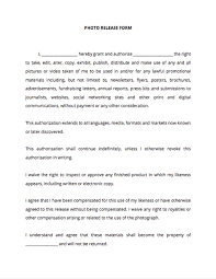 Photo Release Form For Adults And Minors Docsketch