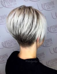 Short bob haircuts for women after 50 years is more preferable than long hair, and a square without a bang will be the best option for them. Platinum Pob Short Bob Pixie Haircut Short Hair Styles Wedge Haircut Short Wedge Haircut