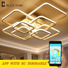 modern led chandelier acrylic hangling lamps for living room bedroom kitchen home lighting fixtures ac110v 220v