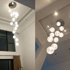 round ball pendant light large glass ball pendant light modern large long stair round ball chandeliers