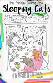 Sleeping Cats Coloring Page Coloring Pages For Adults Easy Peasy