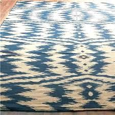 navy blue rug decor trend print farm rugs ikat