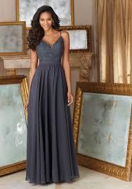 Elegant Beaded Lace And Chiffon Bridesmaid Dress Style 146 Morilee