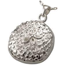 details about sea sand dollar ash holder cremation urn pendant necklace solid sterling silver