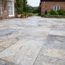 image is loading silverantiquedtravertinepatiopavingstone silver travertine patio e84 patio