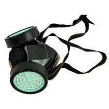 leeko anti dust spray chemical gas dual cartridge respirator paint filter mask black com
