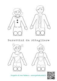 Sagome Marionette Da Ritagliare Acolore