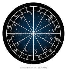 Astrology Zodiac Natal Chart Zodiac Signs Stock Vector