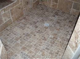 mini walnut versaille pattern travertine mosaic