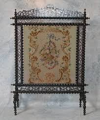 victorian fireplace screen victorian fireplace screen having gany frame featuring barley twist spindles ending in