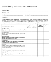 Restaurant Employee Performance Evaluation Form Staff Review Template Employee Performance Tracking Excel