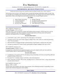 Sample Resume Account Manager Advertising Agency Fresh Sample Resume