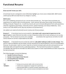 Functional Resume Sample Pdf 14 Purdue Sopms
