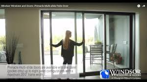 Windsor Windows and Doors: Pinnacle Multi-slide Patio Door - YouTube