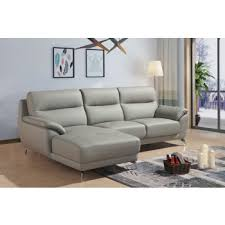 modern sofas and chairs. Divani Casa Fortson Modern Grey Eco-Leather Sectional Sofa W/ Left Facing Chaise Sofas And Chairs I