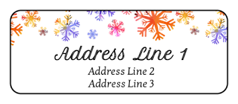 Holiday Address Label Templates Colorful Snowflake Holiday Address Label Printable Address