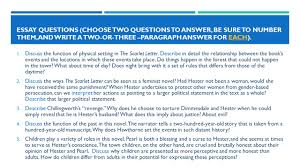 the scarlet letter rdquo by nathaniel hawthorne ppt 11 essay questions