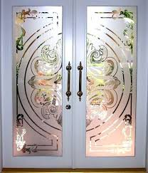 glass door etching designs for doors with painted wood frame stencils