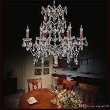 k9 crystal wrought iron chandeliers european luxury suspension lighting living room bedroom art deco hanging lamp bronze pendant light blue pendant light