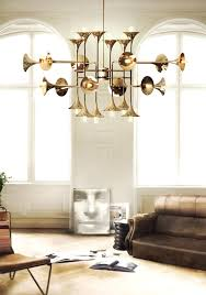 mid century modern chandelier brass chandeliers for a hospitality project contract 9