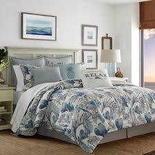 tommy bahama raw coast 3 piece blue king duvet cover set