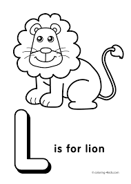 Free Coloring Pages Letter L Many Interesting Cliparts