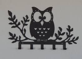 Wall Key Holder Metal Owl Key Holderowl Wall Hookowl Decorjewelry Hookbelt