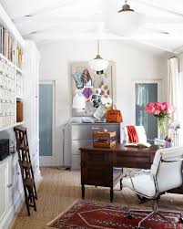 stylish office decor. Simple And Chic Home Office. Great Light Storage! - Craftsman House Interiors Stylish Office Decor