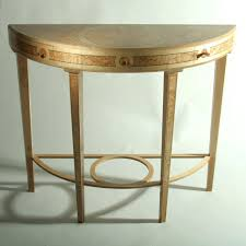 half moon side table wall mounted round console tables circle uk unfinished entrance blue decorative small gold demilune short wrought iron glass modern