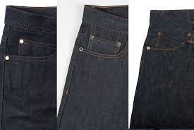 the three tiers of raw denim entry mid and end level jeans