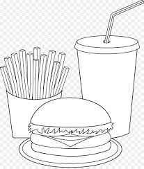 french fries clipart black and white. Simple Clipart Fast Food Junk Hamburger French Fries Clip Art  Cliparts  Black Throughout Fries Clipart And White W