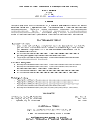 Resume Summary Statement Example Of Resume To Apply Job