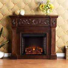 electric fireplace with carved mantel calvert fa9278e by sei