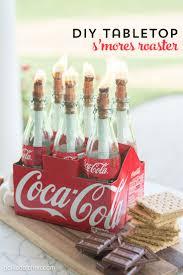 DIY Tabletop S'Mores maker tutorial on polkadotchair.com. Coca Cola ...