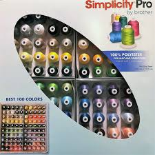 Brother Etks100 Embroidery Thread Kit New Low Price At