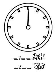Time Clock Chart Wikijunior Tell Time Clock Coloring Book All Pages