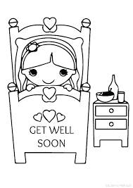 Feel Better Coloring Pages Get Well Soon Pictures To Color Feel Feel