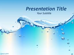 Free Water Wave Powerpoint Templates Myfreeppt Com