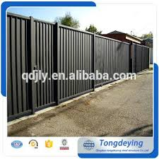Wood and metal privacy fence Aluminum Popular Style Sliding Gate Safety Metal Privacy Fence Wrought Iron And Wood Thejokeskinginfo Popular Style Sliding Gate Safety Metal Privacy Fence Wrought Iron