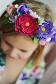 Paper Flower Headbands Paper Flower Crown Headband Hello Pretty Buy Design