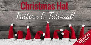 Santa Hat Pattern Cool How To Make A Fleece Santa Hat Free Christmas Hat Pattern