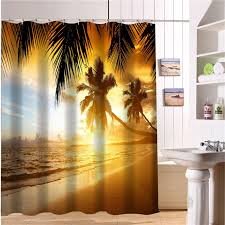 beach fabric shower curtains