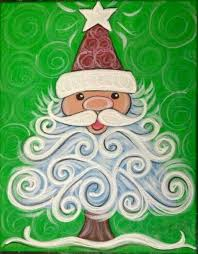 Christmas Paintings On Canvas Easy Ideas In Home 18