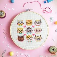 How To Make A Cross Stitch Pattern Simple Cute Cross Stitch Patterns Super Cute Kawaii