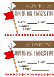 How To Make Printable Invitations Smores Party Free Printable Invitations Kleinworth Co