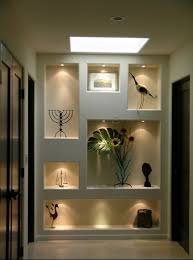Recessed Lights In Art Niches Various Sizes And Straight Lines More Wall Niche Lighting Pinterest