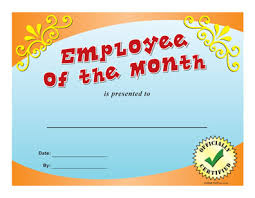 Printable Employee Of The Month Certificates Employee Of The Month Certificate